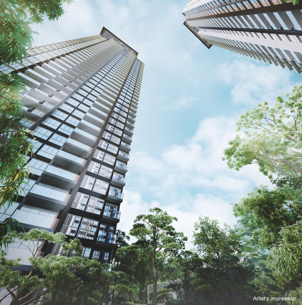 The Clement Canopy Condo . View of the 40 Storey Towers