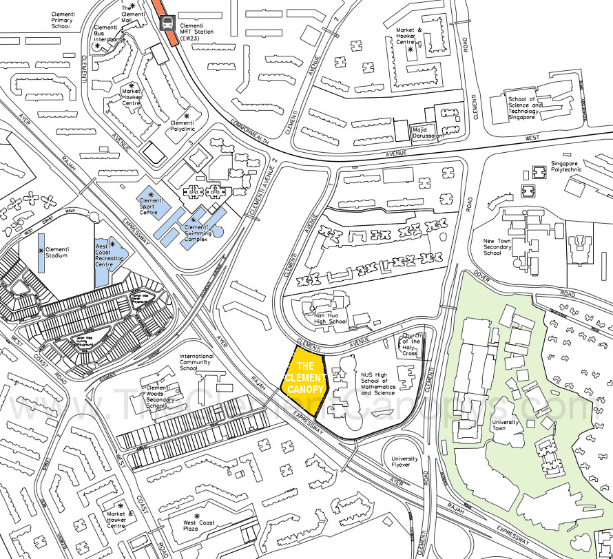 The Clement Canopy Location Plan URA