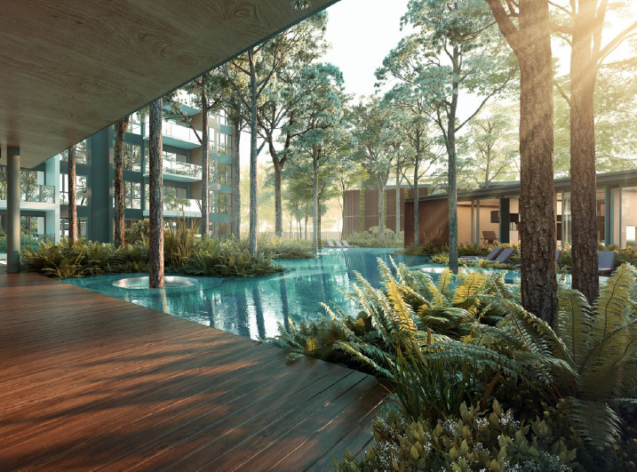 The Clement Canopy Condominium Pool Deck