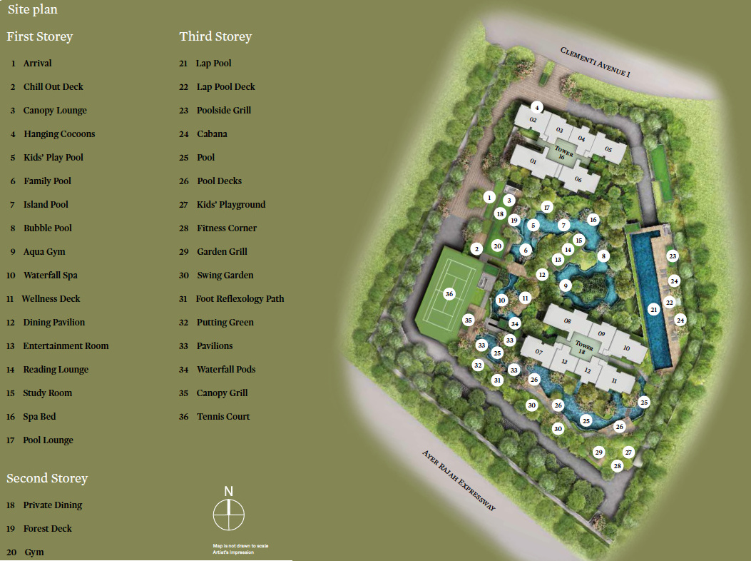 The Clement Canopy Site Plan Layout